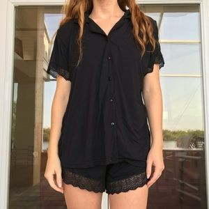 Other - Black w/ Lace Trim Sleepwear